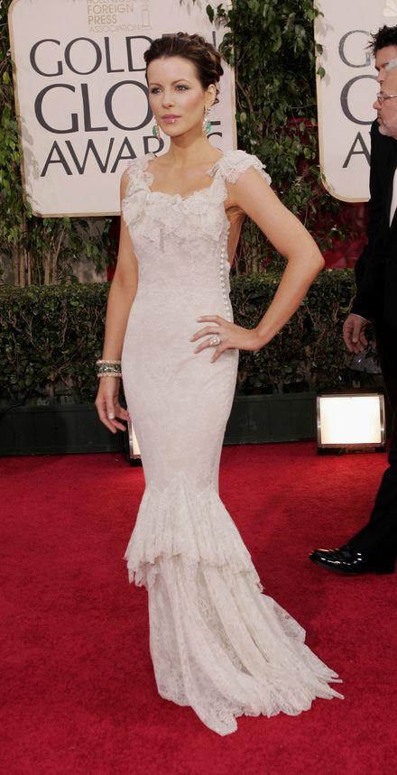 Kate Beckinsale, Dior, Golden Globes 2006.