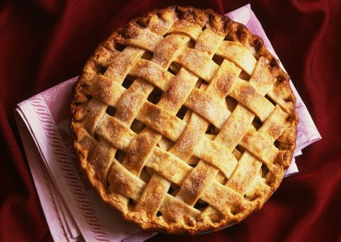 Fashioned Lattice-Top Apple Pie Here is a beautiful and delicious pie ...