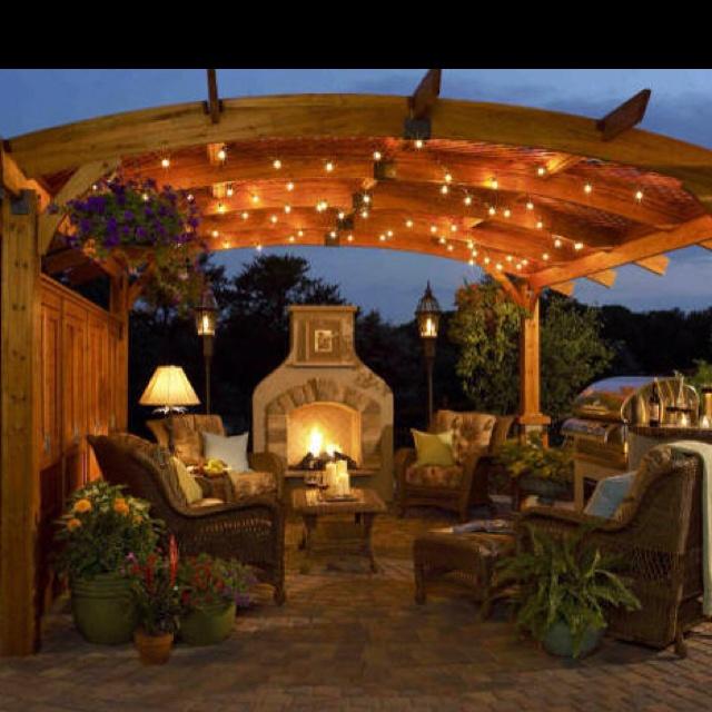 Outdoor Lighting Under Pergola: Pergola With Lights