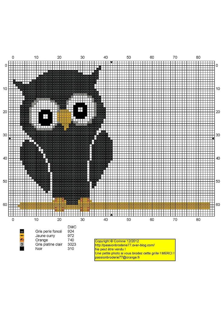 black owl free chart