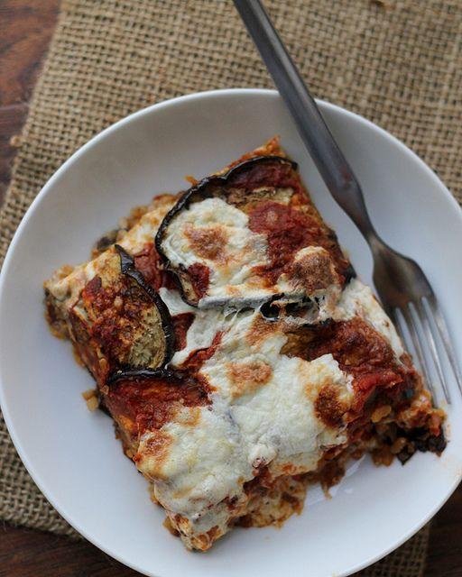 Eggplant, Mozzarella and Saffron Rice Bake | Recipe