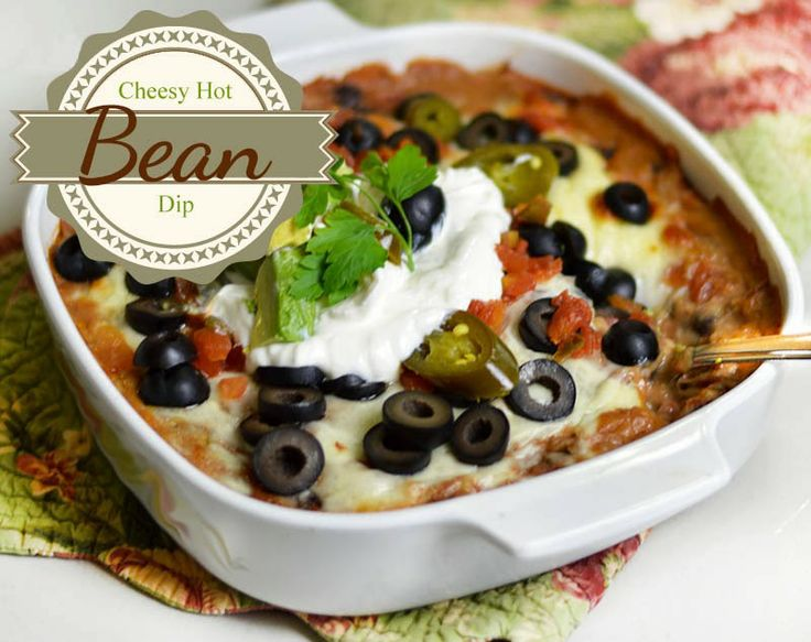 Hot Cheesy Bean Dip Recipes — Dishmaps