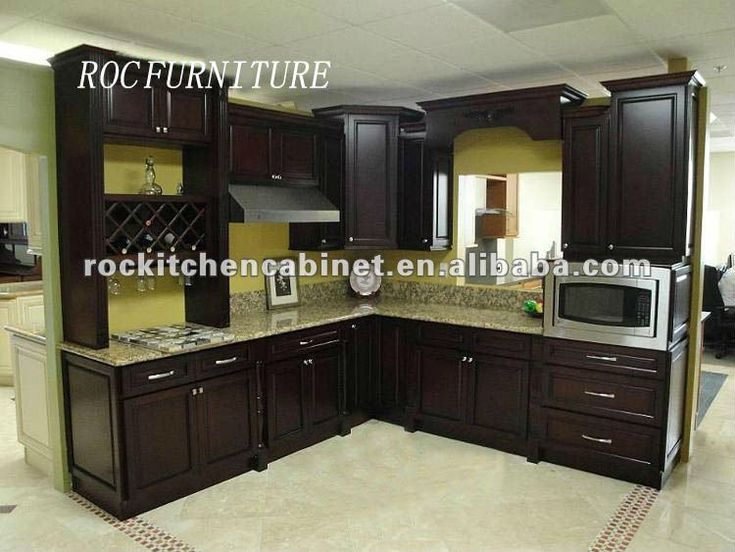 Dark wood shaker cabinets  Kitchen Designs  Pinterest
