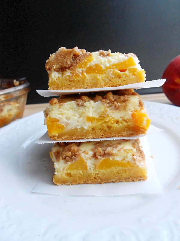 Culinary Couture: Peaches and Cream Bars | Cakes | Pinterest