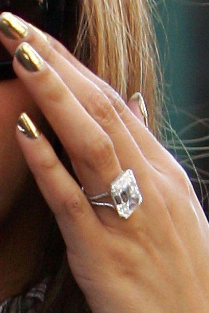 Beyonces 18ct Emerald Cut Engagement Ring