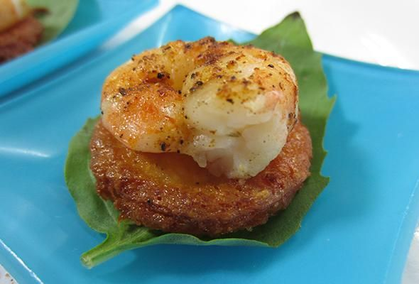 Spicy Shrimp on Grits Cakes Recipe | Holiday Party Ideas | Pinterest