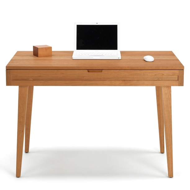 Simple Wood Desk - aesthetic more modern than rest of our decor