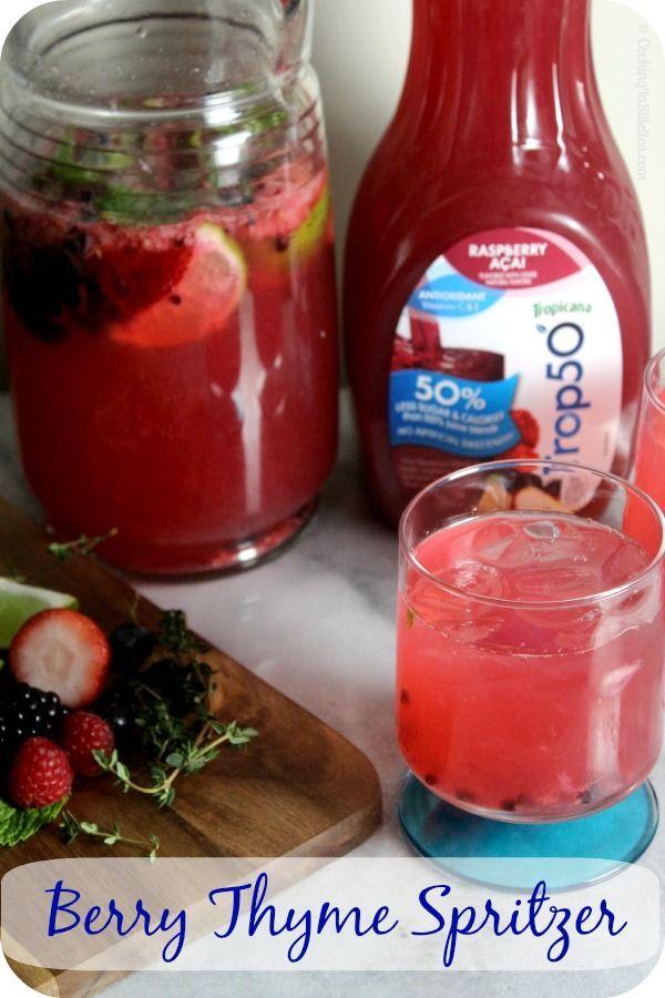 ... .com/berry-thyme-spritzer/ #Berry #Mocktail #Spon #Recipe