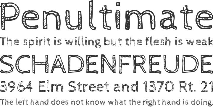 Quill And Ink Font CabinSketch fre...