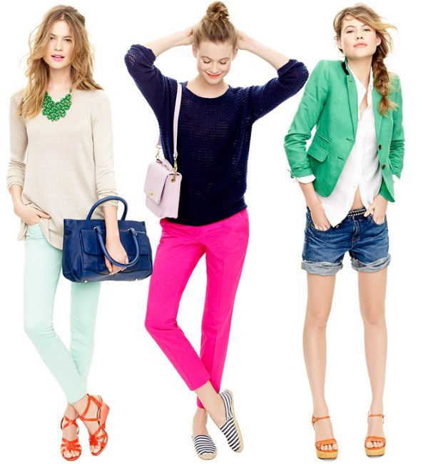 spring summer fashion trends colors 2012 - color blocking, bright accents