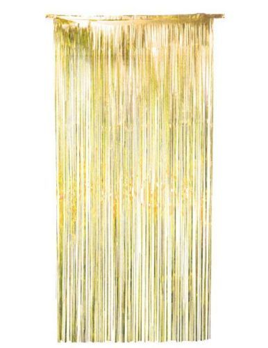 Gold Shiny Foil Door Curtain shimmer metallic decoration Christmas Ne ...
