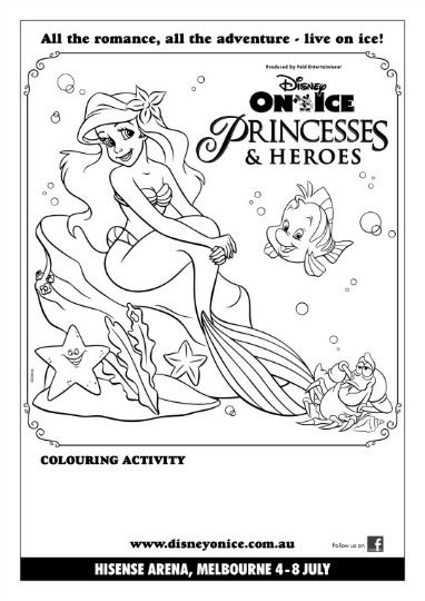 ice princess coloring pages - disney on ice presents princesses and heroes giveaway