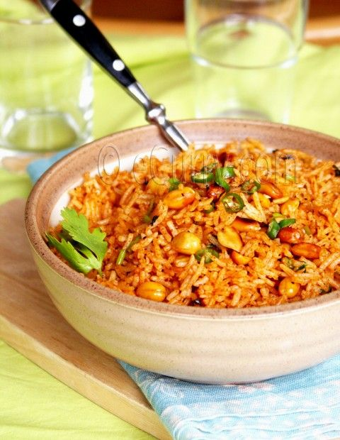 ... delicious! Want to try it - Cumin Flavored Peanut and Tomato Rice