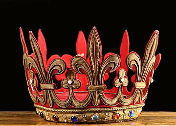 antique french fleur crown