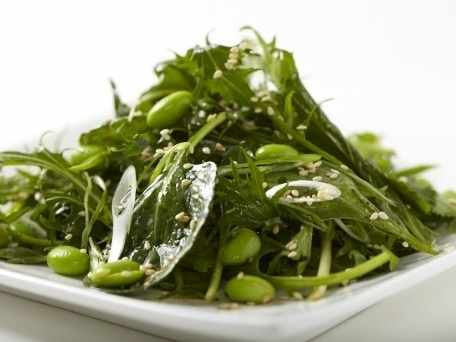 Asian Green Salad with Edamame and Sesame-Soy Vinaigrette | Recipe