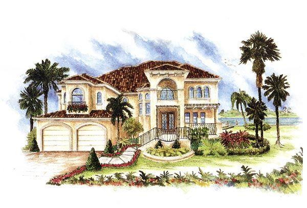 Florida Italian Mediterranean House Plan 60426