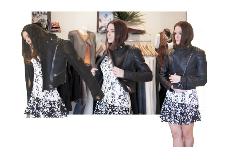 try leather jacket