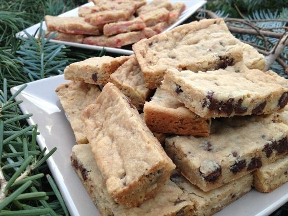 Pine Nut And Chocolate Caramel Bars Recipe — Dishmaps