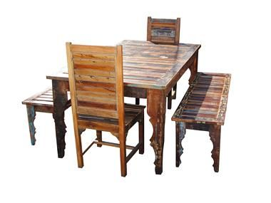 Outdoor log furniture - Solid Wood Outdoor Patio Dining Set Furniture For New Space Pinte