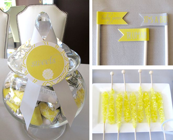 yellow gray modern baby shower modern baby shower decor pintere