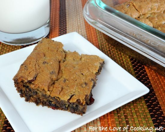 Chocolate-Cherry Blondies - For the Love of Cooking - THESE SOUND ...