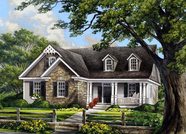 Cape Cod Cottage Country French Country House Plan 86109