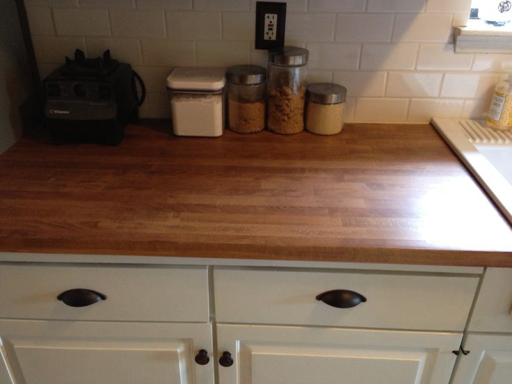 ikea butcher block kitchen pinterest