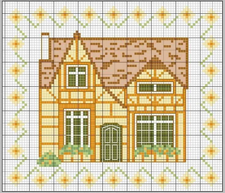 Имбирный дом схема вышивки 81