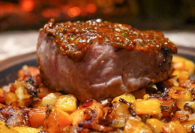 ... Sage Pork Chops with Sweet Potato, Butternut Squash and Apple Hash