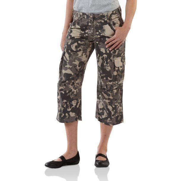 Model Details About Ladies Womens Army Military Green Camouflage Cargo Pants