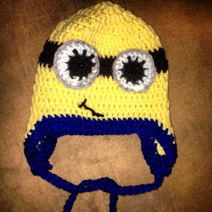 Crochet Minion Beanie Hat Pattern : Crochet minion beanie Cloks Stilo Pinterest