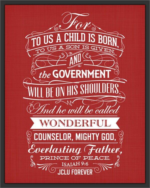 <b>Isaiah 9:6</b>