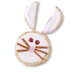 Pita Rabbit---I have also changed this to Mini Waffles to make it smaller, no pretzels just black gel frosting & no peanut butter since it was going to school.......Kids loved them!!