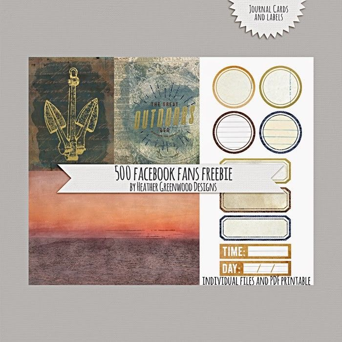 Fan Freebie : Journal Cards and Lebels by Heather Greenwood Designs ...