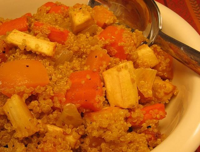 Quinoa with butternut squash and cilantro dressing(cilantro-vinegar ...
