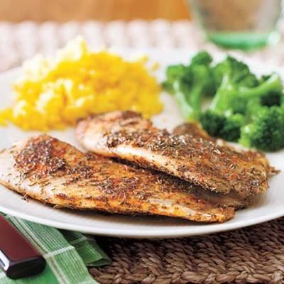... Tilapia: crispy, delicious fish - fried in 10 minutes, smoking hot