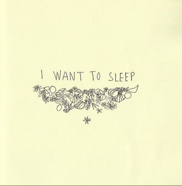 i want to sleep