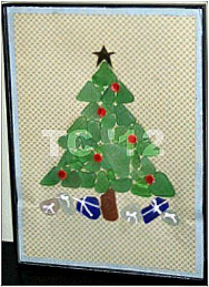 Sea Glass Christmas Tree With Tutorial Christmas Craft