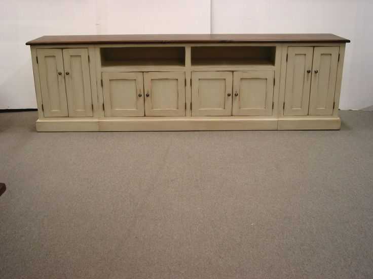Tv Stand Long Tv Console Wood Tv Stand Media Console