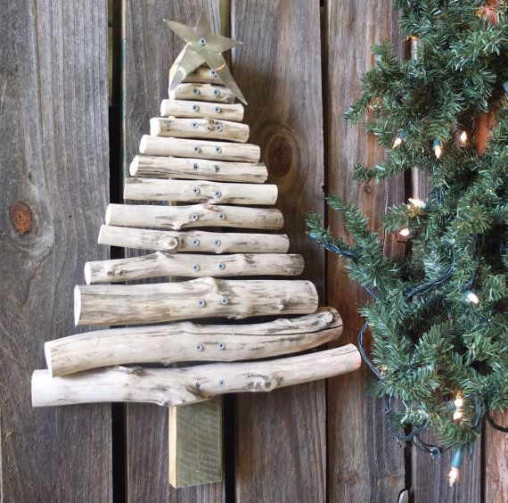Wooden outdoor christmas decorations rustic wood christmas tree