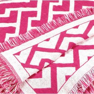 Simply Home Fuschia Pink Herringbone Zigzag Eco2Cotton Afghan Throw Blanket 50'' x 60'' $29.99