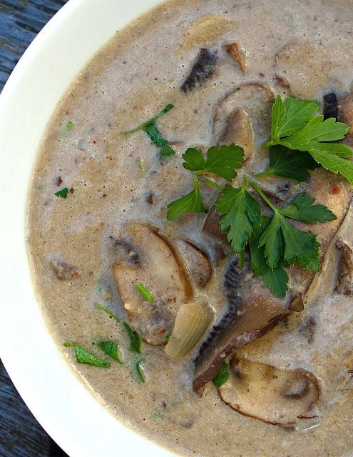 scrumpdillyicious creamy wild mushroom soup with sherry amp thyme