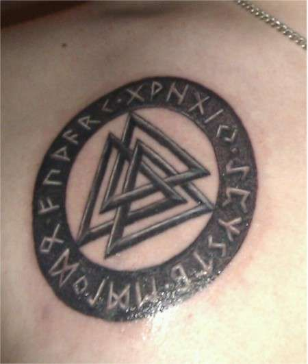 Valknut Norse Symbol T...