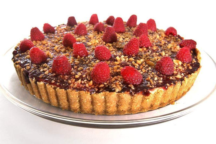 Black Bottom Peanut Butter & Jelly Tart | Naughty Treats | Pinterest