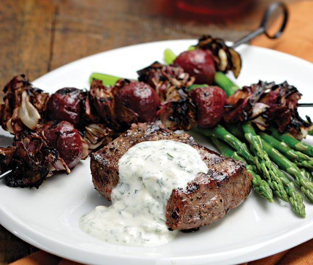 Grilled Steak with Beets & Radicchio | Grilling | Pinterest