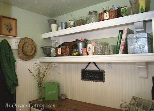Ballard Style Mud Room Shelves A Pinterest Challenge