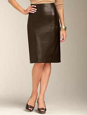 talbots leather pencil skirt my style