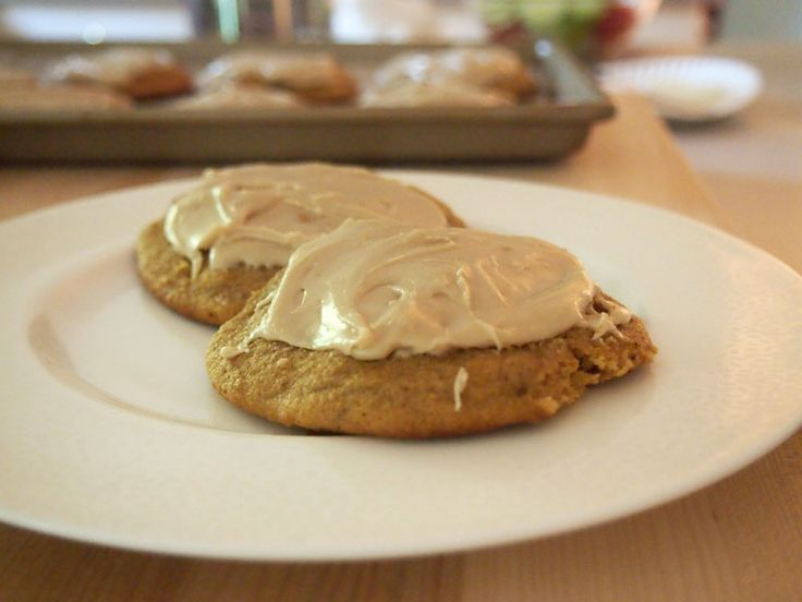 Pumpkin Cookies with Penuche Frosting Amazing for fall!