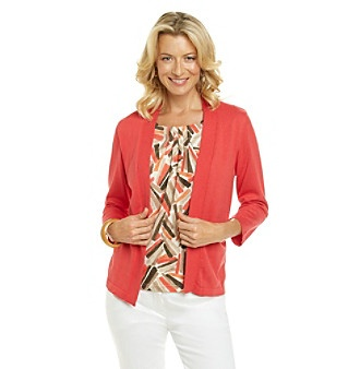 Alfred Dunner^ Layered-Look Cardigan