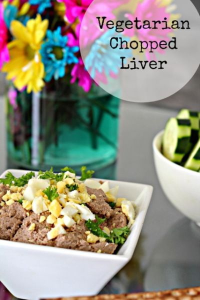 Vegetarian Chopped Liver with eggs, walnuts, lentils and more!